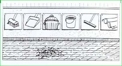 Những dụng cụ xếp đặt theo thứ tự của các động tác