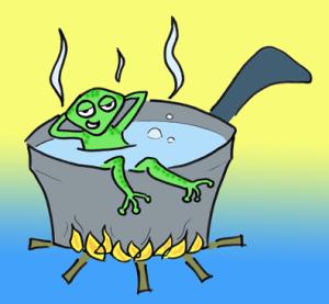 Câu chuyện chú ếch trong nồi nước
