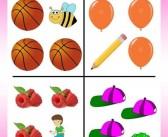 Bài tập giúp các bé học về sự đối lập
